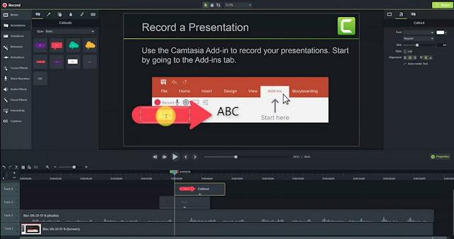 camtasia studio 9 editing and recording