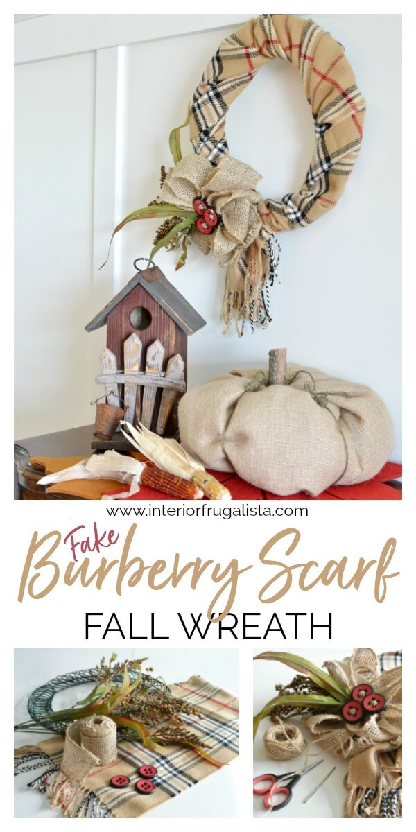 Fake Burberry Scarf Fall Wreath