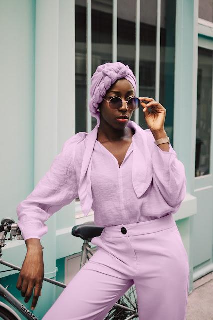 look monochrome femme violet ofcoursedarlin
