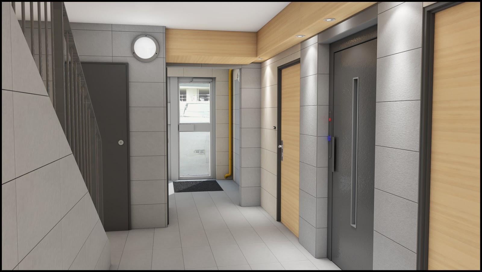 hall d 39 entr e projet 1 plurihabitat l 39 effort r mois akom design. Black Bedroom Furniture Sets. Home Design Ideas