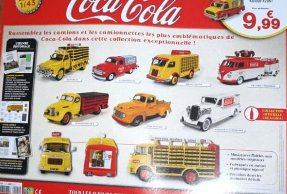 camions et camionnettes coca-cola 1/43 altaya