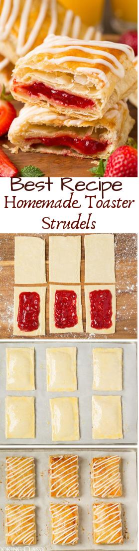 Homemade Toaster Strudels #desserts #cakerecipe