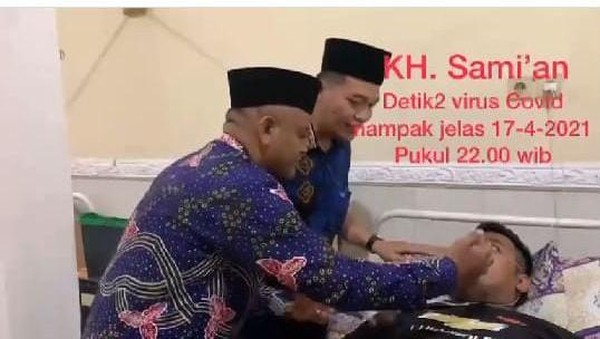 Sami'an Ngaku Sempat Pucat Saat Hirup Napas Pasien COVID-19 di Jombang