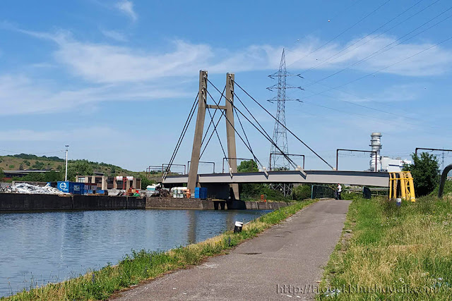 Smallest Cable Stayed Bridge Charleroi