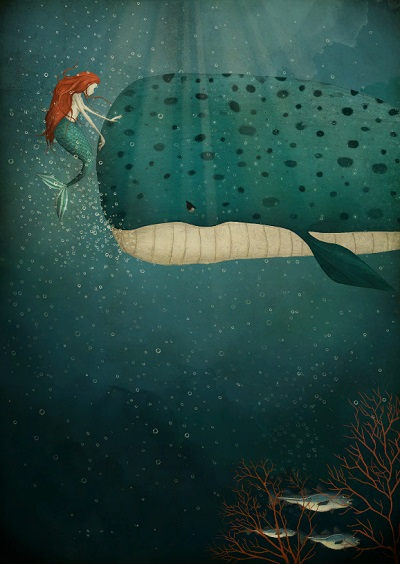 por Maja Lindberg | ilustraciones imaginativas, infantiles, imagenes bonitas, illustration art, cool stuff, mermaids.