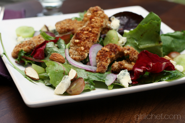 Duck Salad w/ Grapes, Almonds, & Blue Cheese