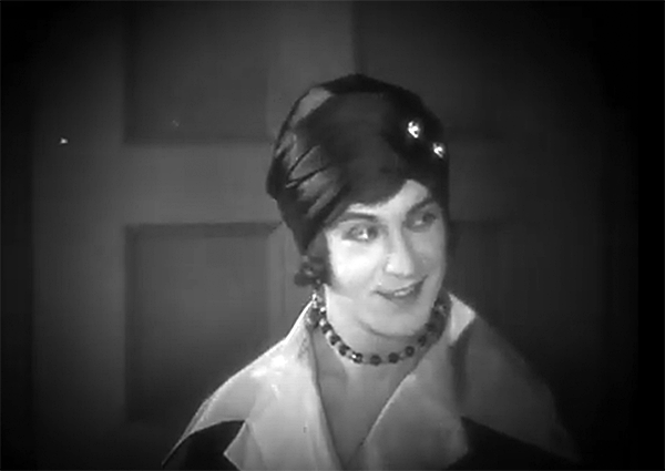 Harry Myers femulating in the 1926 film 45 Minutes from Broadway.