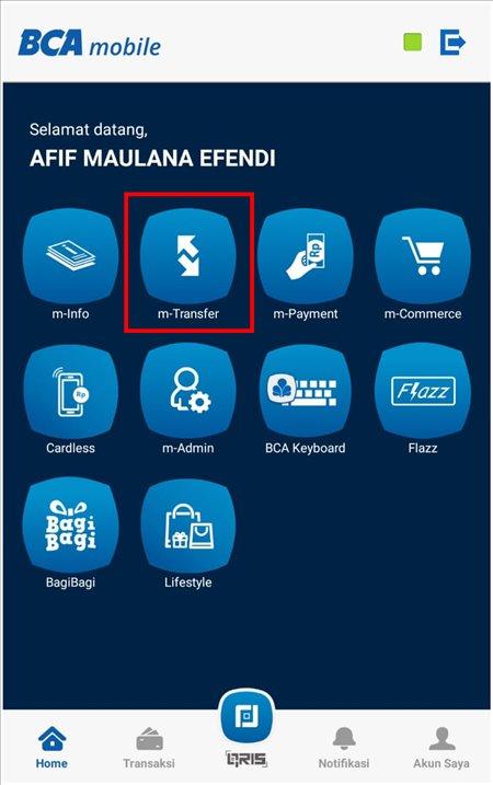 cara transfer ke virtual account bca 1