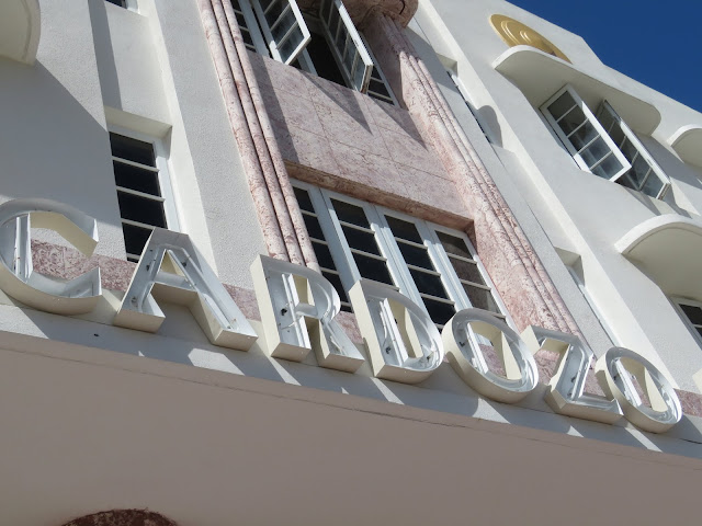 Cardozo sign in the Miami South Beach Art Deco Historic District