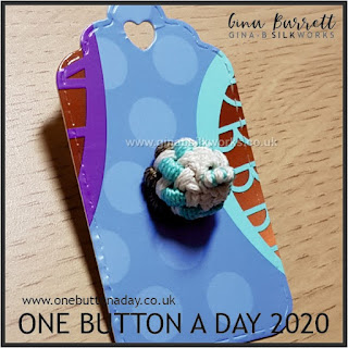 Day 216 : Cake - One Button a Day 2020 by Gina Barrett