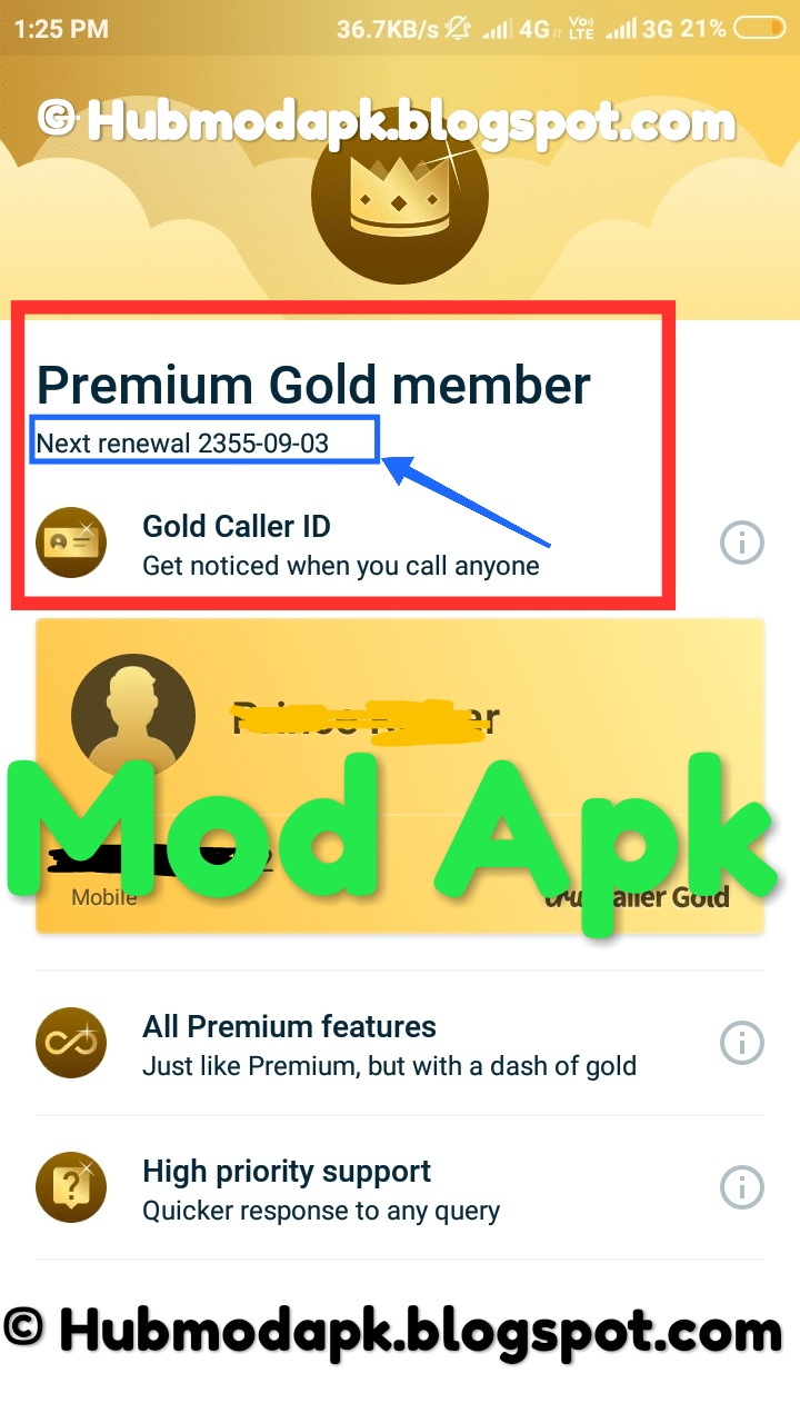 Download Truecaller Mod Free Premium Gold membership| True