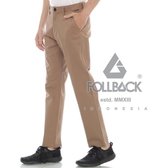 Celana Chino Pria Premium Follback California Beige