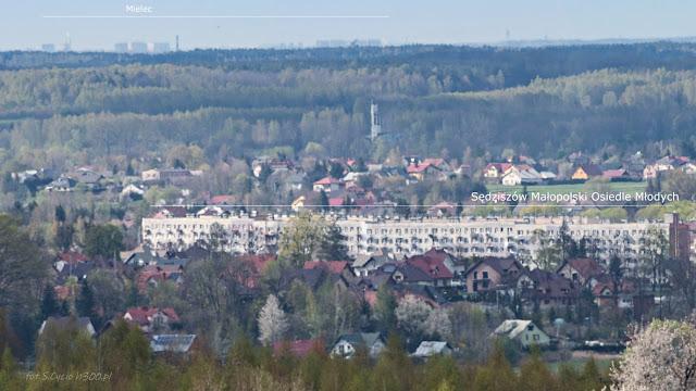 Sędziszów Małopolski z Mielcem w tle ogniskowa 300 (450) mm