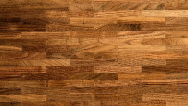 Lantai kayu solid untuk ruang tamu