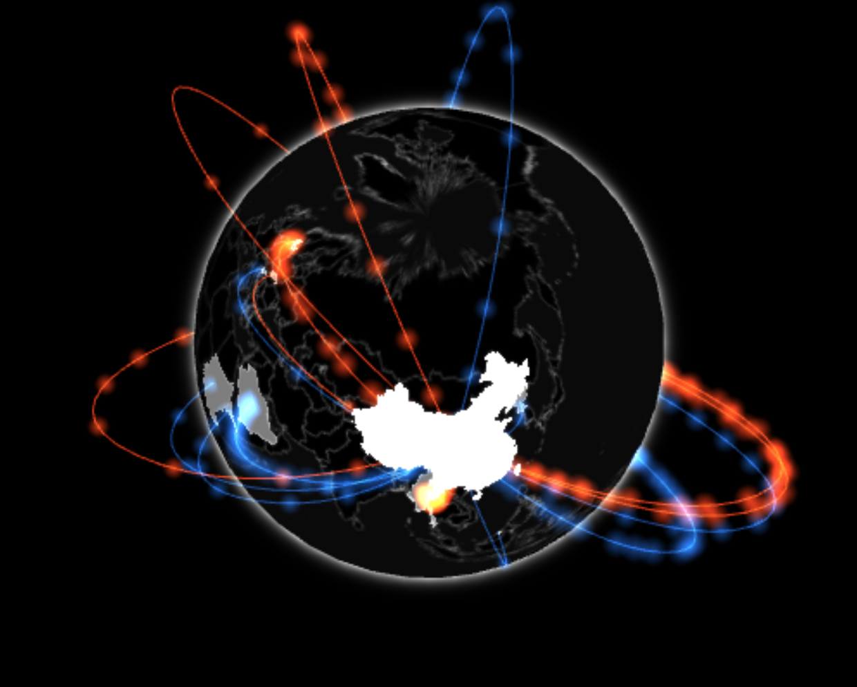 Gio.js - 3D Globe Data Visualization