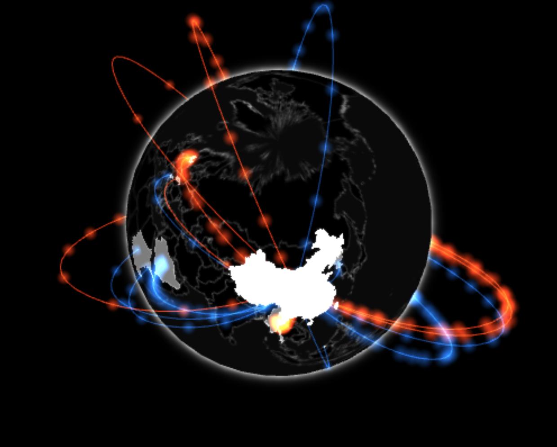 Gio.js - 3D Globe Data Visualization