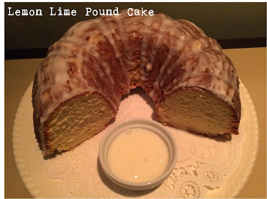 Lemon-Lime Pound Cake with Lemon Glaze