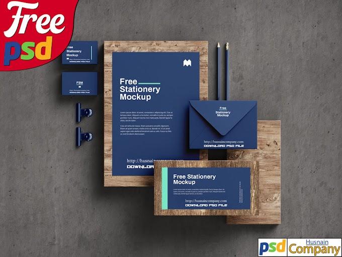 Download Free Stationery PSD Mockup #2