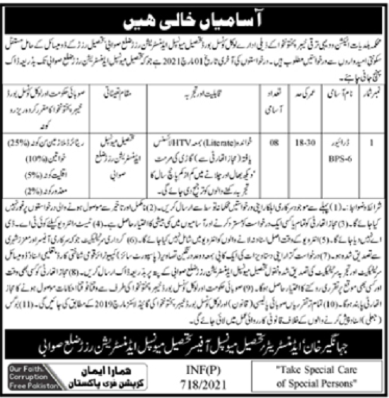 tehsil-municipal-administration-jobs-2021-application-form