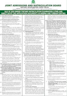 2021 JAMB UTME & DE Registration Form » Instructions & Guidelines