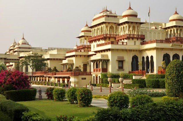 Rambagh Palace in Jaipur, Rajasthan  IMAGES, GIF, ANIMATED GIF, WALLPAPER, STICKER FOR WHATSAPP & FACEBOOK
