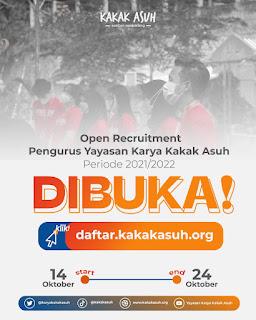 Booklet Pendaftaran Pengurus Yayasan Karya Kakak Asuh Periode 2021/2022