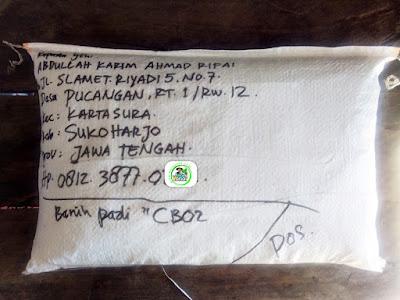 Benih Pesanan   ABDULLAH KARIM AR Sukoharjo, Jawa Tengah.   (Sesudah Packing)