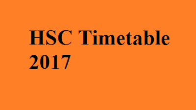 HSC Timetable 2017