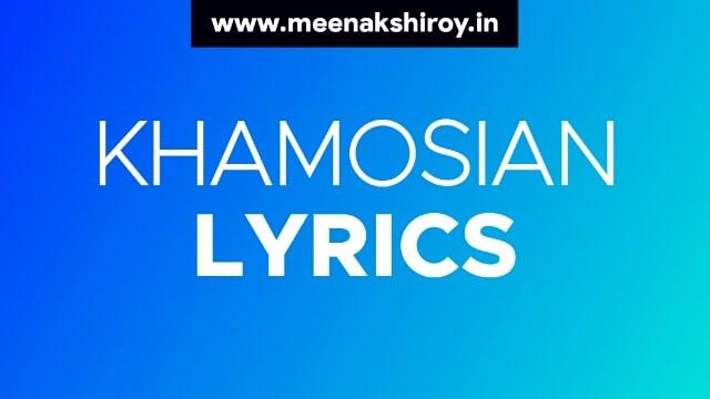 Khamoshiyan lyrics by Arijit singh