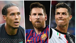 Messi, Ronaldo & Van Dijk all nominated for Best FIFA Player of the Year