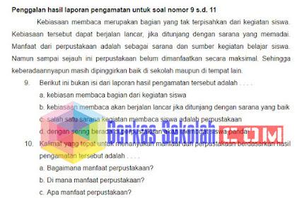 Soal UAS Bahasa Indonesia SD Kelas 6 Kurikulum 2013 dengan Kunci Jawaban