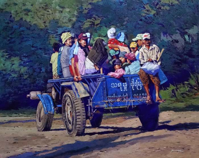 Художник из Мьянмы. Ye Aung Myat