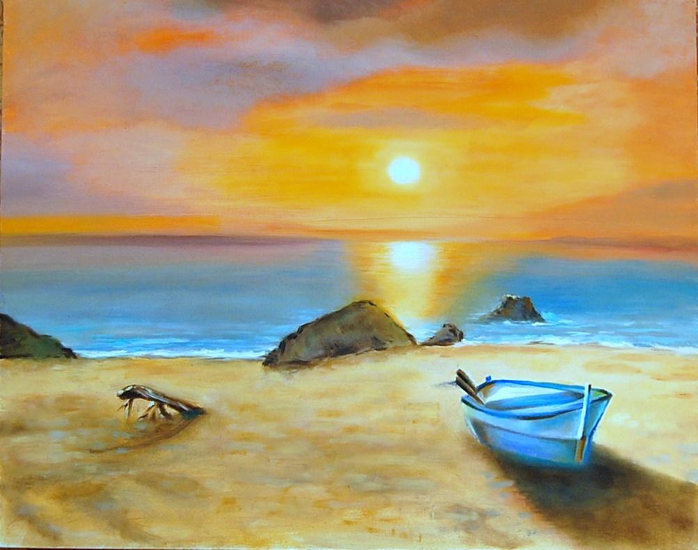 Disegno paesaggio di mare a colori for Disegno paesaggio marino