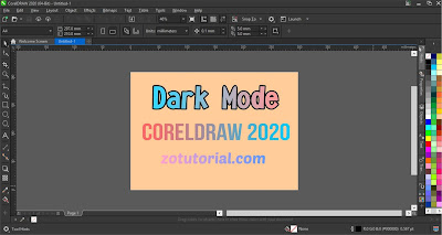 User Interface Settings Dark Mode on CorelDraw 2020