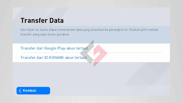 Cara login akun PES 2020 Mobile Lama di HP android baru