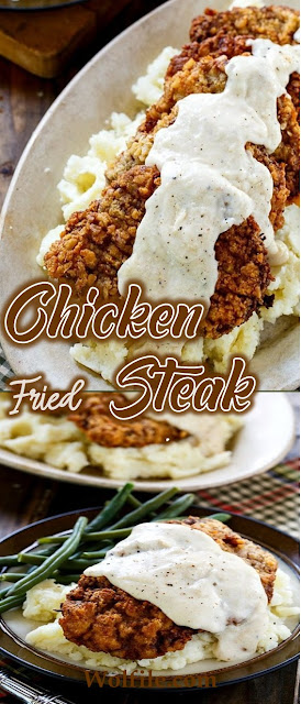 Chicken Fried Steak Recipe #Chicken #Steak