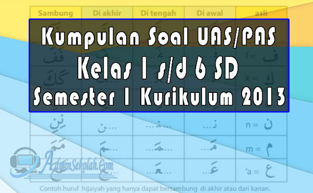 Kumpulan Soal Pendidikan Agama Islam (PAI) SD Semester 1 dan Kuci Jawaban