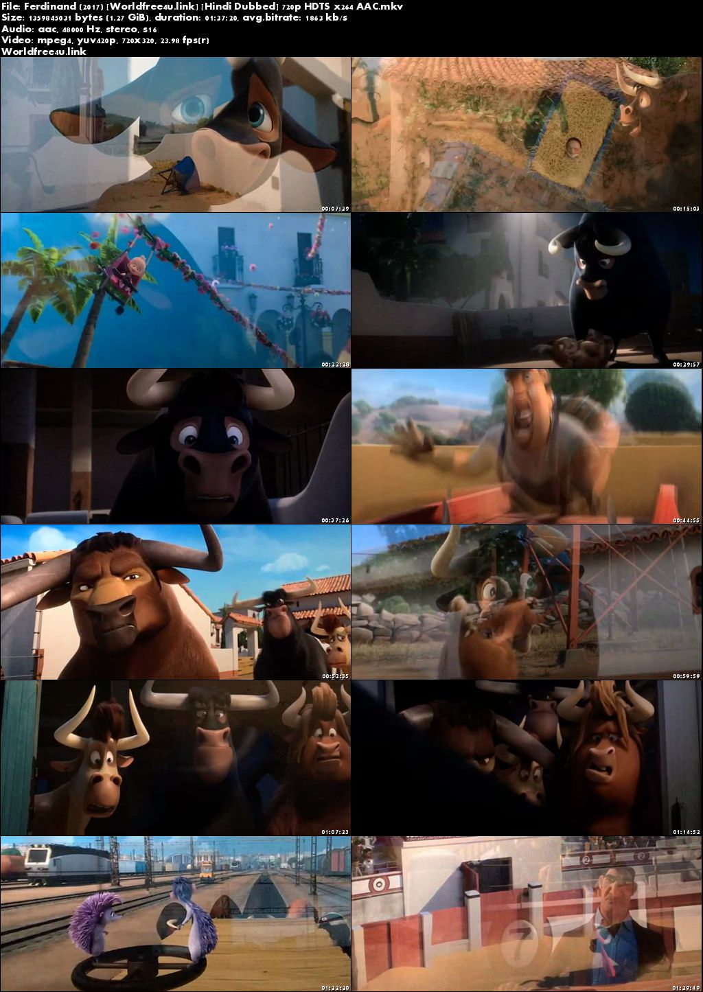 Screen Shoot of Ferdinand 2017 Full Hindi Movie Download HDTS 1.2Gb Watch Online Free