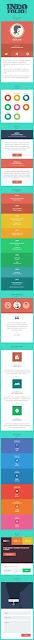 Cool effect blogspot landing template made from CSS