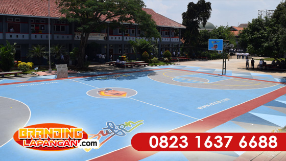 WA +62 823-1637-6688(Telkomsel), Pengecatan Lapangan Basket
