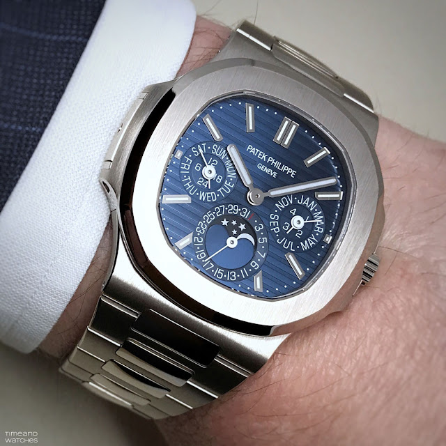 Wrist shot of the Patek Philippe Nautilus 5740