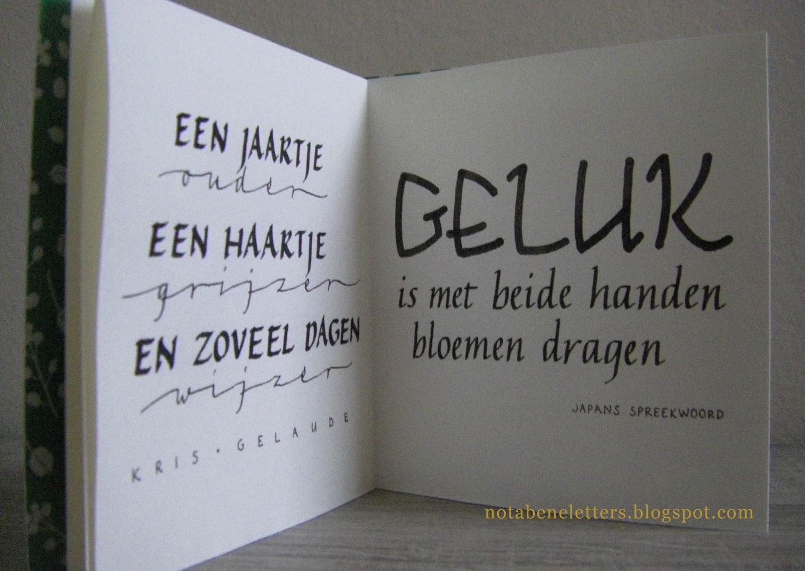 Citaten Cursief : Nota bene citatenboekje booklet with quotes