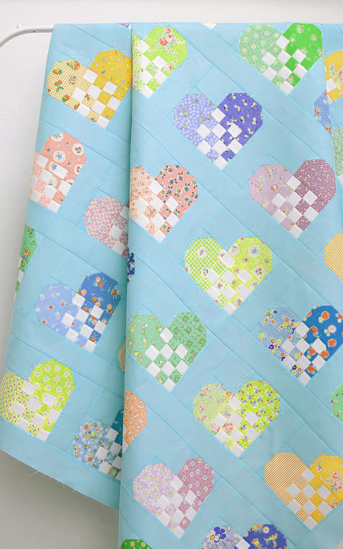Checkered Heart Quilt - Free Pattern