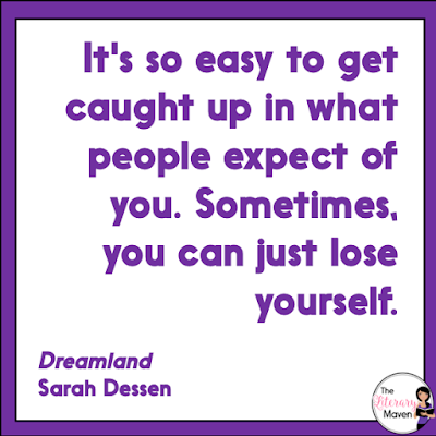 In Dreamland by Sarah Dessen, Caitlin's parents are wrapped up in the disappearance of her sister. Caitlin's desire to be needed is satisfied when she meets Rogerson, who she thinks she can save from the effects of his abusive father. But Caitlin can't change him, and soon she becomes a victim of Rogerson's abuse. Read on for more of my review and ideas for classroom application.