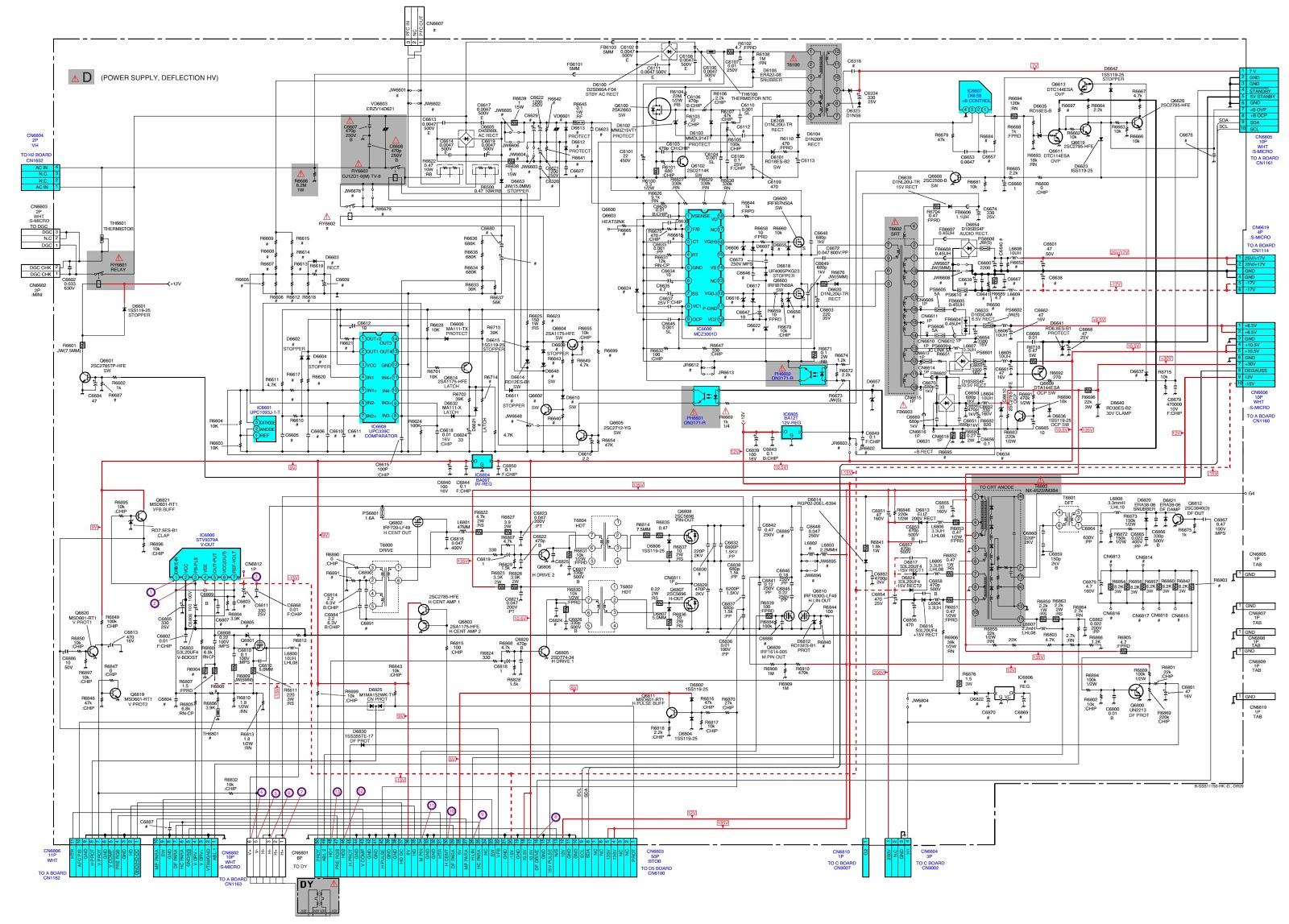 Sony KV DR29M93 Trinitron Color TV – Service mode – Power