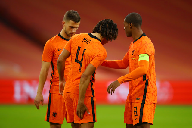 Man City defender Nathan Ake injured during Netherlands 1-1 draw with Spain in an international friendly match