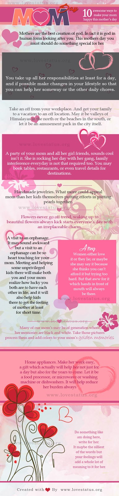 10 Awesome ways to make your Mom happy this mother's day