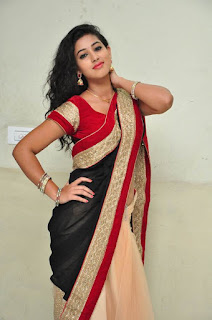 Actress Pavani Stills in Black Saree  0040.jpg