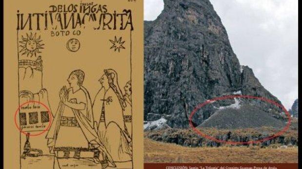 Antigua representación de los Hermanos Ayar, según los relatos Incas, fundadores del Imperio Incaico. Se dice que ellos ingresaron a este mundo por tres ventanas ubicadas en las montañas.
