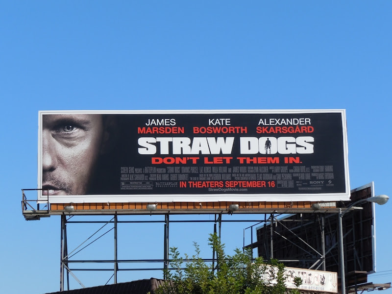 Straw Dogs movie billboard